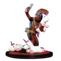 Marvel - Diorama Q-Fig Deadpool unicornselfie 10 cm