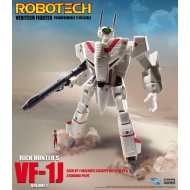 Robotech - Figurine Veritech Micronian Pilot Collection 1/100 Rick Hunter VF-1J 15 cm