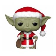Star Wars - Figurine POP! Holiday Santa Yoda 9 cm