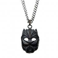 Black Panther - Pendentif avec chaînette acier inoxydable 3D Mask