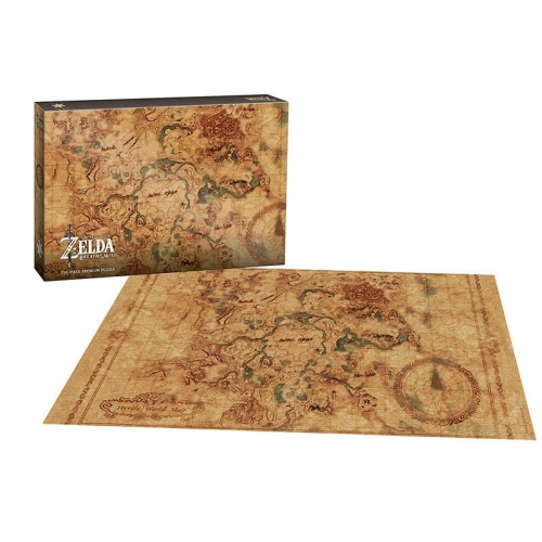 The Legend of Zelda Breath of the Wild - Puzzle Hyrule Map