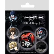 Death Note - Pack 5 badges Characters