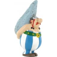Astérix - Figurine Obelix avec son Menhir 12 cm