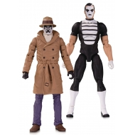 DC Comics - Pack 2 figurines Doomsday Clock Rorschach & Mime 18 cm