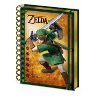 The Legend of Zelda - Cahier à spirale A5 Wiro 3D Link