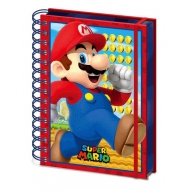 Super Mario - Cahier à spirale A5 Wiro 3D Mario