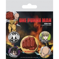 One Punch Man - Pack 5 badges Destructive