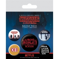 Stranger Things - Pack 5 badges Upside Down