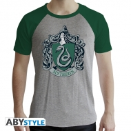 Harry Potter - T-shirt Premium Serpentard homme MC gris & vert