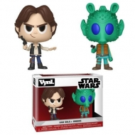 Star Wars - Pack 2 figurines VYNL Han Solo & Greedo 10 cm