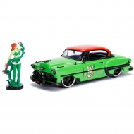DC Bombshells - Réplique métal Hollywood Rides 1/24 Chevy Bel Air Hard Top 1953 avec figurine Poison Ivy