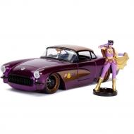 DC Bombshells - Réplique métal Hollywood Rides 1/24 Chevy Corvette 1957 avec figurine Batgirl