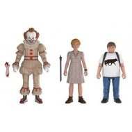 « Il » est revenu 2017 - Pack 3 figurines Pennywise, Ben, Beverly 10 cm