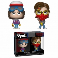 Stranger Things - Pack 2 VYNL figurines Steve & Dustin 10 cm