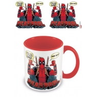 Marvel - Mug Coloured Inner 2 Thumbs Deadpool