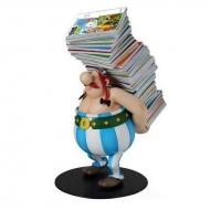 Asterix - Statuette Collectoys Obelix pile d'albums 21 cm