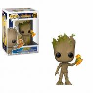 Avengers Infinity War - Figurine POP! Groot avec Stormbreaker 9 cm
