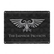 Warhammer - Panneau métal Emperor 21 x 15 cm