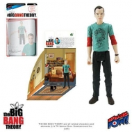 The Big Bang Theory - Figurine avec diorama Sheldon Riddler Shirt 10 cm