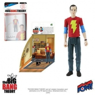 The Big Bang Theory - Figurine avec diorama Sheldon Shazam Shirt 10 cm