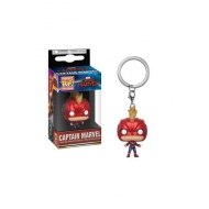 Captain Marvel - Porte-clés Pocket POP! Captain Marvel (avec casque) 4 cm