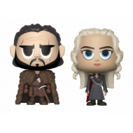 Game of Thrones - Pack 2 figurines Vinyl Jon & Daenerys 10 cm