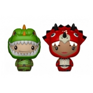 Fortnite - Pack 2 figurines Pint Size Heroes Rex & Tricera Ops 6 cm