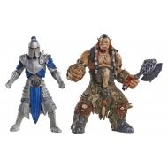Warcraft - Pack 2 figurines Alliance Soldier vs. Durotan 6 cm