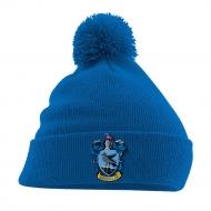 Harry Potter - Bonnet Pom Pom Ravenclaw Crest Bleu