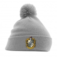 Harry Potter - Bonnet Pom Pom Hufflepuff Crest Gris