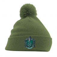 Harry Potter - Bonnet Pom Pom Slytherin Crest Vert