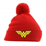 DC Comics - Bonnet Pom Pom Logo Wonder Woman Rouge