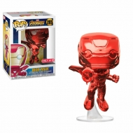 Avengers Infinity War - Figurine POP! Iron Man Red Chrome Target Exclusive 9 cm