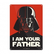 Star Wars - Panneau métal I Am Your Father 21 x 15 cm