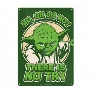 Star Wars - Panneau métal Yoda Try 21 x 15 cm