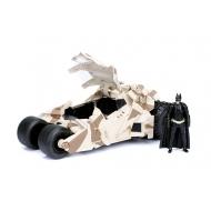 Batman The Dark Knight - Réplique métal Batmobile 2008 Camo 1/24  avec figurine