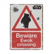 Star Wars - Panneau métal Ewok 21 x 15 cm