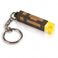 Minecraft - Porte-clés lumineux 3D Torch 5 cm