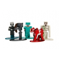 Minecraft - Pack 5 figurines Diecast Nano Metalfigs 4 cm