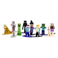 Minecraft - Pack 20 figurines Diecast Nano Metalfigs Wave 4 cm