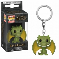 Game of Thrones - Porte-clés Pocket POP! Rhaegal 4 cm