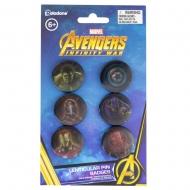 Avengers Infinity War - Pack 6 badges Lenticular