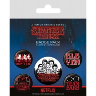 Stranger Things - Pack 5 badges Characters