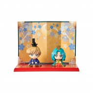 Sailor Moon - Set 2 mini figures Petit Chara Hinamatsuri Haruka & Michiru 6 cm