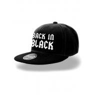 AC/DC - Casquette AC/DC hip hop Back in Black