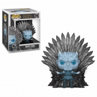 Game of Thrones - Figurine POP! Deluxe Night King on Iron Throne 15 cm