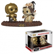 Star Wars - Pack 2 Figurines POP! Bobble Head C-3PO on Throne 9 cm