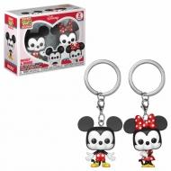 Disney - Pack 2 porte-clés Pocket POP! Mickey & Minnie 4 cm