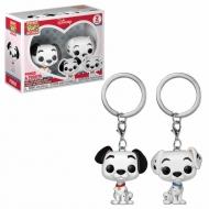 Les 101 Dalmatiens - Pack 2 porte-clés Pocket POP! Pongo & Purdy 4 cm