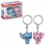 Lilo & Stitch - Pack 2 porte-clés Pocket POP! Stitch & Angel 4 cm